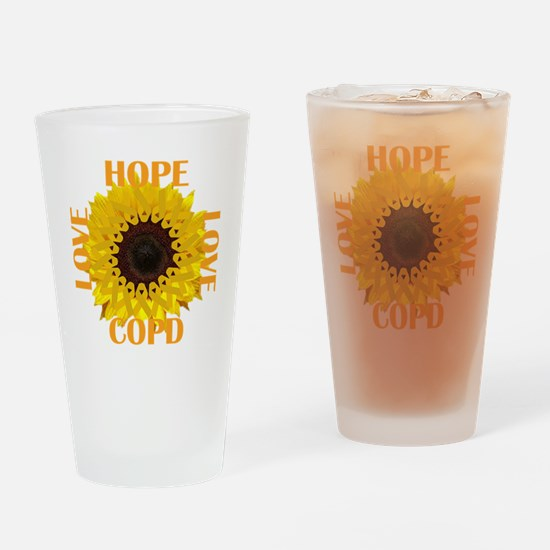 COPD Hope Sunflower Drinking Glass