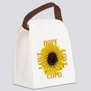 COPD Hope Sunflower Canvas Lunch Bag