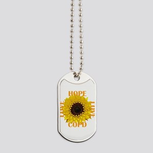 COPD Hope Sunflower Dog Tags