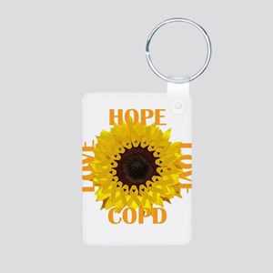 COPD Hope Sunflower Keychains