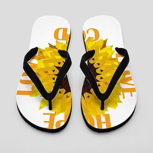 COPD Hope Sunflower Flip Flops