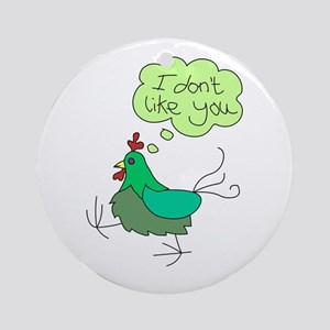 Angry Chicken Ornament (Round)