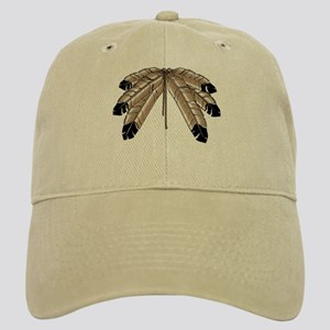 First Nations Cap Eagle Feathers Baseball Cap