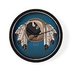 Native Art Wall Clock Wildlife Artwork & Design