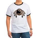 Native Art Ringer T-Shirt Wildlife First Nations