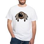 Native Art White T-Shirt First Nations Wildlife