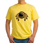 Native Art Yellow T-Shirt Cool Wildlife Artwork