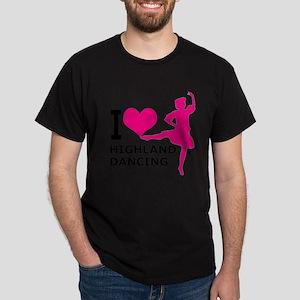 I LOVE highland dancing hot pink Dark T-Shirt