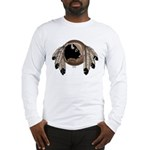 Native Art Long Sleeve T-Shirt Bison Eagle Feather