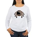 Native Art Women's Long Sleeve T-Shirt Wildlife