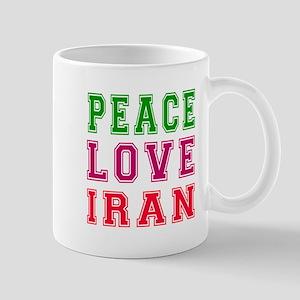 Peace Love Iran Mug