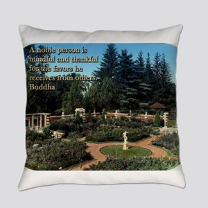 A Noble Person Is Mindful - Buddha Everyday Pillow