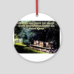 Anyone Who Keeps The Ability - Kafka Round Ornamen