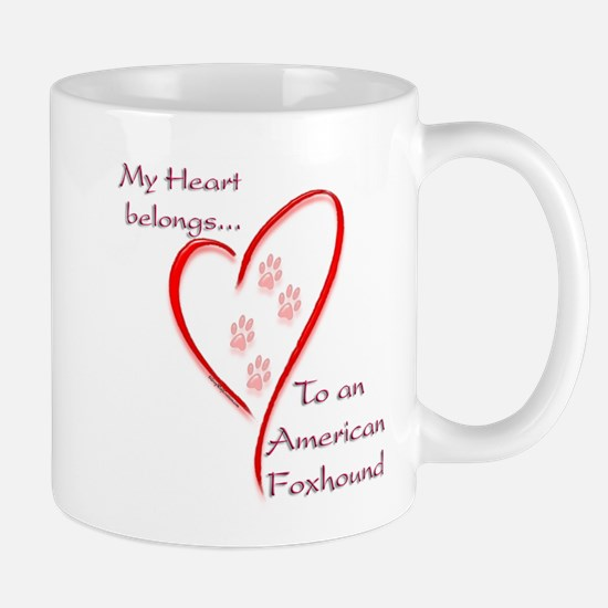 Foxhound Heart Belongs Mug