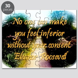 No One Can Make You Feel - Eleanor Roosevelt Puzzl