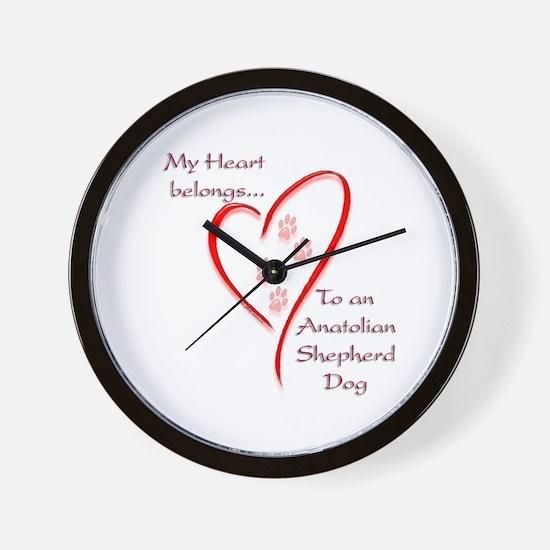 Anatolian Heart Belongs Wall Clock
