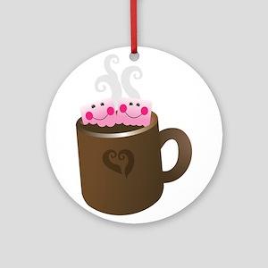 Cute Hot Chocolate Ornament (Round)