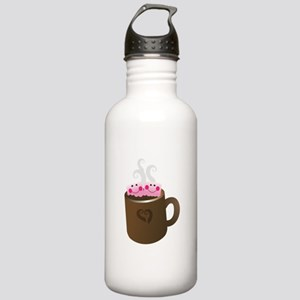 Cute Hot Chocolate Sports Water Bottle