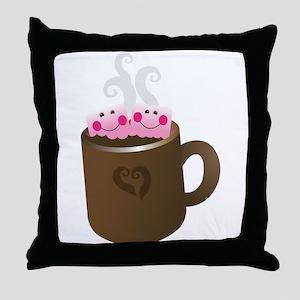 Cute Hot Chocolate Throw Pillow