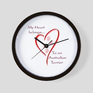Australian Terrier Heart Belongs Wall Clock