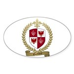 GUILLORY Family Crest Oval Sticker
