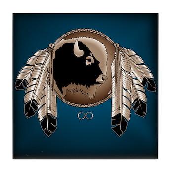 Native Art Tile Coaster Wildlife Artwork & Design