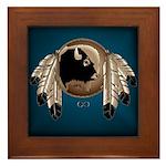 Native Art Framed Tile Wildlife Artwork & Design