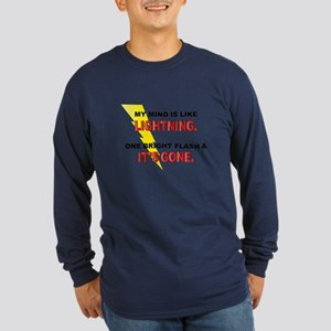 My Mind - Funny Saying Long Sleeve Dark T-Shirt