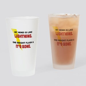 My Mind - Funny Saying Drinking Glass