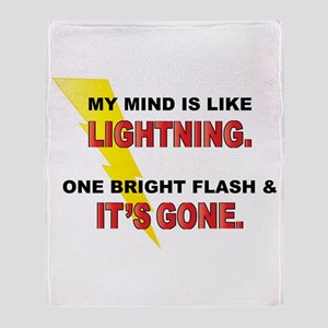 My Mind - Funny Saying Throw Blanket