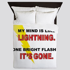 My Mind - Funny Saying Queen Duvet