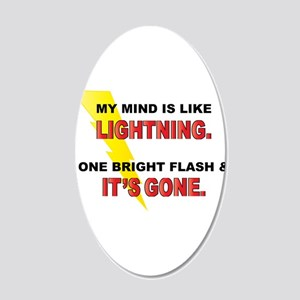 My Mind - Funny Saying 20x12 Oval Wall Decal
