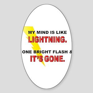 My Mind - Funny Saying Sticker (Oval)