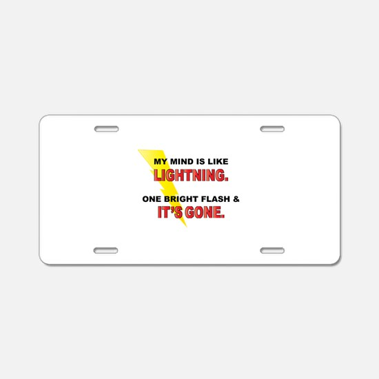 My Mind - Funny Saying Aluminum License Plate