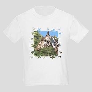 Giraffe Framed in Flowers Kids T-Shirt