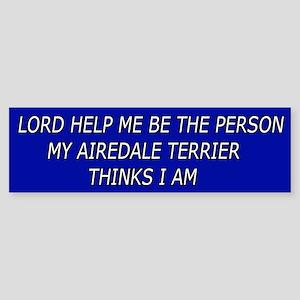 Cute Airedale Terrier Bumper Sticker