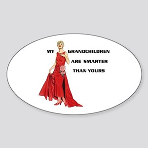 SMART GRANDCHILDREN Oval Sticker