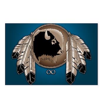 Native Spirit Buffalo Met Postcards (Package of 8)