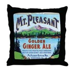 Vintage Maine Ad Throw Pillow