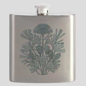 Fan Design - Diatomea by Ernst Haeckel Flask