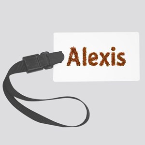 Alexis Fall Leaves Large Luggage Tag