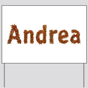 Andrea Fall Leaves Yard Sign