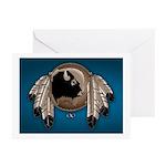 Native Art Greeting Cards 10 Pk Wildlife Artwork