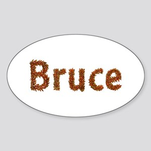 Bruce Fall Leaves Oval Sticker
