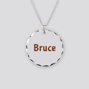 Bruce Fall Leaves Necklace Circle Charm