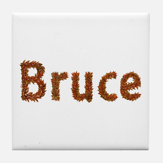 Bruce Fall Leaves Tile Coaster