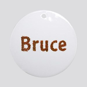 Bruce Fall Leaves Round Ornament