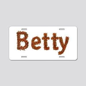 Betty Fall Leaves Aluminum License Plate