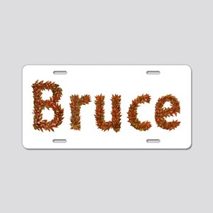 Bruce Fall Leaves Aluminum License Plate