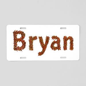 Bryan Fall Leaves Aluminum License Plate